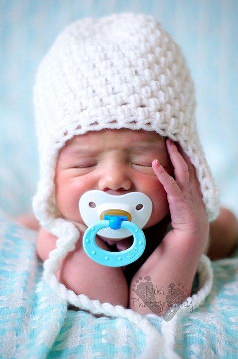 Newborn,0-3,3-6 or 6-12  white crochet  beanie photo prop