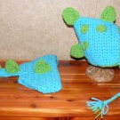 Newborn Dinosour crochet hat and diaper set photo props