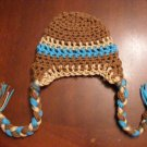 Newborn baby boy crochet photo prop or winter hat