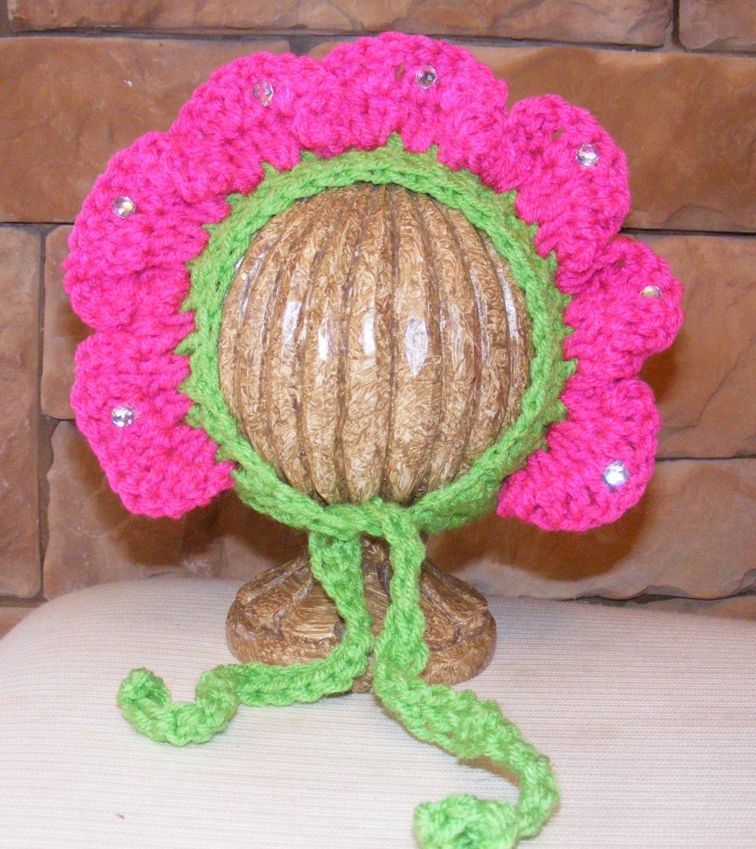 Newborn photo prop flower bonnet photography