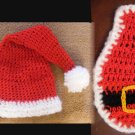 Newborn christmas santa claus hat and cape set photo props photography