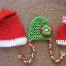 Newborn christmas santa claus plus 2 other christmas hatshat photo props