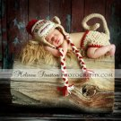 TWIN SALE  2 Monkey hat and diaper covers sets photo props you choose size.