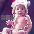 Newborn baby girl boy monkey crochet hat  beanie photo prop photography