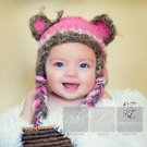 Fuzzy Wuzzy Bear hat design Newborn,0-3,3-6,6-12 Back by popular demand