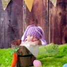 Newborn baby bunny Easter photo prop crochet hat