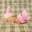 Newborn piggy  photo prop hat  and bum cover butt  photo prop photography