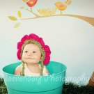 Newborn photo prop flower bonnet photography