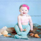 Newborn  and up mermaid cocoon and bikini top photo prop photography