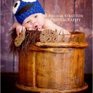 Newborn photo prop baby cookie monster Crochet Hat photo props photography