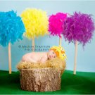 Inspired from Dr. Seuss The Lorax crochet baby newborn hat photo prop photography