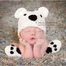 Newborn photo prop bear hat and booties set photo prop halloween
