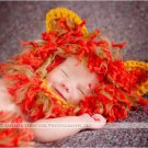 Newborn photo prop lion  bonnet and diaper cover set  photography halloween