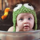 Newborn oscar the grouch crochet hat photo props photography