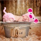 Newborn pig piggy hat  and  diaper cover  set photo prop