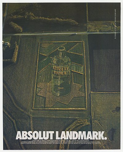 Absolut Vodka Landmark Stan Herd Print Ad