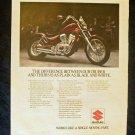 1985 Suzuki Intruder Motorcycle Print Ad
