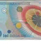 P111a Romania 2,000 Lei 1999 Polymer CUNC