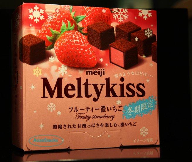 Meiji Melty Kiss STRAWBERRY ichigo Chocolate Cube