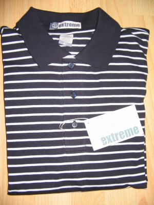 Men's Jersey Striped Polo