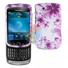 FOR BLACKBERRY TORCH 9800 COVER HARD CASE H-FLOWER