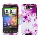 FOR HTC Desire Cover Hard Case H-Flower