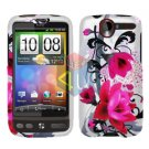 FOR HTC Desire Cover Hard Case W-Flower