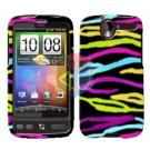 FOR HTC Desire Cover Hard Case Rainbow