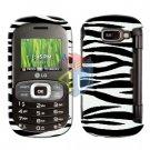 For LG Octane VN530 Cover Hard Case Zebra + Screen