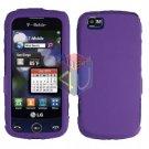 For LG Sentio GS505 Cover Hard Case Purple