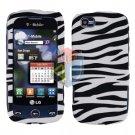 For LG Sentio GS505 Cover Hard Case Zebra