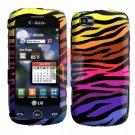 For LG Sentio GS505 Cover Hard Case C-Zebra