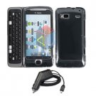 For HTC T-Mobile G2 Car Charger + Cover Hard Case Clear