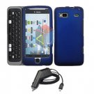 For HTC Desire Z Car Charger + Cover Hard Case Black