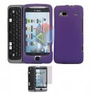 For HTC T-Mobile G2 Protector Screen + Cover Hard Case Purple