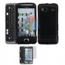 For HTC Desire Z Protector Screen + Cover Hard Case Black