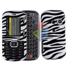 For LG Rumor2 Rumour 2 UX265 Cover Hard Case Zebra