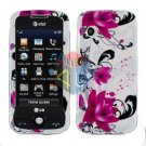 For LG Prime GS390 Cover Hard Case W-Flower