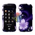 For LG Prime GS390 Cover Hard Case B-Flower