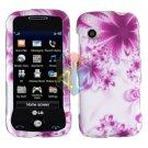 For LG Prime GS390 Cover Hard Case H-Flower