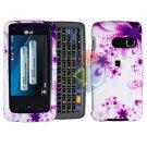 For LG Rumor Touch LN510 Cover Hard Case H-Flower