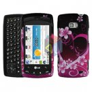 For LG Ally VS740 Cover Hard Case Love