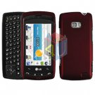 For LG Ally VS740 Cover Hard Case Red
