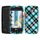 For LG Apex US740 Cover Hard Case Plaid