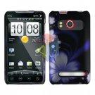 For HTC Evo 4G Cover Hard Case B-Flower