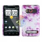 For HTC Evo 4G Cover Hard Case H-Flower