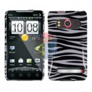 For HTC Evo 4G Cover Hard Case Zebra