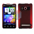 For HTC Evo 4G Cover Hard Case Rubberize Red