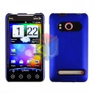 For HTC Evo 4G Cover Hard Case Rubberize Blue