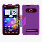 For HTC Evo 4G Cover Hard Case Rubberize Purple